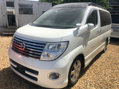 Nissan Elgrand Mistral Camper 4 berth Highway Star 2.5 Motorhome Petrol Pearlescent WhiteNissan Elgrand Mistral Camper 4 berth Highway Star 2.5 Motorhome Petrol Pearlescent White at Budget Bongos Southampton