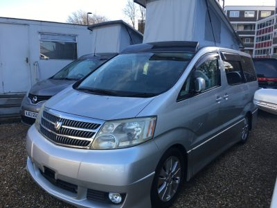 Toyota Alphard 2.4 Mistral Camper Motorhome Petrol SilverToyota Alphard 2.4 Mistral Camper Motorhome Petrol Silver at Budget Bongos Southampton