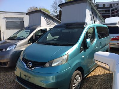 Nissan NV200 1.6 Mistral Camper Petrol Automatic Motorhome Petrol Metallic TurquoiseNissan NV200 1.6 Mistral Camper Petrol Automatic Motorhome Petrol Metallic Turquoise at Budget Bongos Southampton